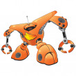 Royalty-Free Stock Photo: Orange Firewall Robot Concept