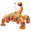 Orange Internet Web Crawler Robot Concept — Stock Photo