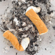 Ashtray of cigarettes - Stockfoto