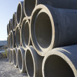 Stock Photo: Stacks of Sewer Pipes
