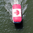 Seabus with Canadian Maple Leaf — Stock Photo