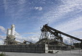 Cement Factory Yard — Stock Photo