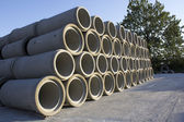 Stacks of Sewer Pipes — Stock Photo