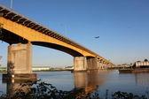 Urban Bridge Linking Municipalities — Stock Photo