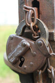An old-style padlock — Foto Stock