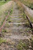 Övergivna järnvägsspåren — Stockfoto