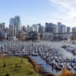 Vancouver and False Creek — Stock Photo