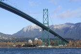 The Lions Gate Bridge — Stock Photo