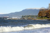 Surfs Up on English Bay — Stock Photo