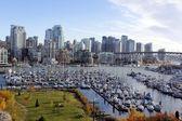 Vancouver and False Creek — Stock Photo