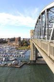 Burrard ulicy Most i przystani — Zdjęcie stockowe