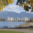 Vancouver From Kits Beach — Stock Photo