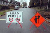 Road Construction Signs — Stock Photo