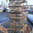 Stock Photo: Stacks of Crab Traps