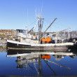 A Moored Fishing Boat — Stock Photo