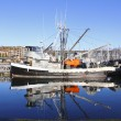 Stock Photo: Moored Fishing Boat