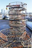 Stacks of Crab Traps — Stock Photo