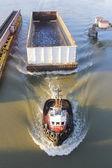 Tugboat and Swing Bridge — Stock Photo