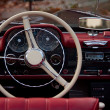 Interior of an antique car — Stock Photo