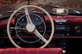Interior of an antique car — Stock Photo