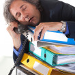 Stock Photo: Falling asleep durning phonecall