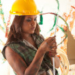 Female constructor — Stock Photo