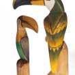 Stock Photo: Toucans of wood