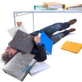 Burried with work — Stock Photo
