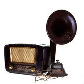 Vintage radio with loudspeaker — Stock Photo