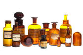 Old pharmacy bottles — Stock Photo
