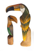 Toucans of wood — Stock Photo