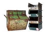 старые старинные контейнеры — Стоковое фото