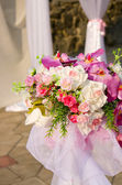 Decoration of wedding ceremony — Stock Photo