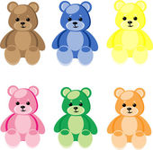 Teddy bear — Stock Vector