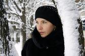 Retrato de inverno jovem — Fotografia Stock