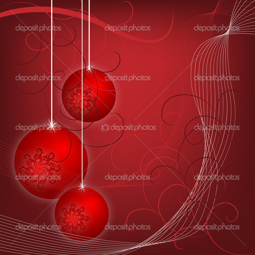 Christmas background, this illustration may be useful as designer work  Stock Vector #7628403
