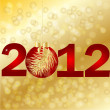 New Year 2012, vector illustration — Stok Vektör #7907253