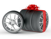 Gift wheels — Stock Photo