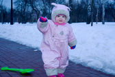 Kiddy in winter — Stock Photo