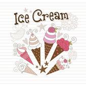 Beauty ice cream — Stock Vector