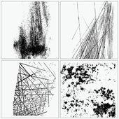 Collectie van grunge texturen — Stockvector