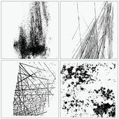 Kolekce grunge textures — Stock vektor