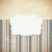 Vintage frame, vector retro background — Stock Vector