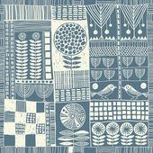 Modèle sans couture en style patchwork — Vecteur