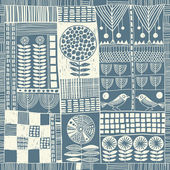 Seamless pattern in style of patchwork — 图库矢量图片