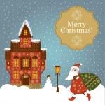 Christmas card — Stock Vector