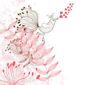 Floral abbildung — Stockvektor