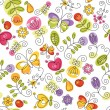 Summery floral background — Stock Vector