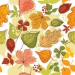 Seamless autumn background — Stock Vector