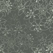 Seamless floral pattern on a  grey backround - Stock Vector